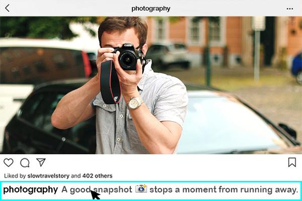 The art of captivation through captions!